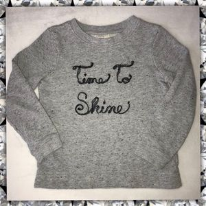 Other - GENUINE Sweatshirt Gray Sparkle Time To Shine Girl